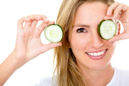 Homemade cucumber skin care