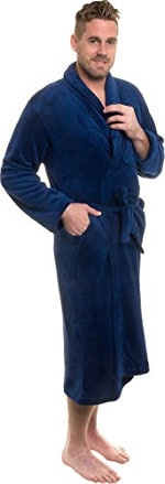 Ross Michaels Men's Plush Shawl Collar Kimono Bathrobe