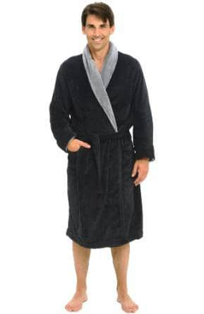 Del Rossa Men's Fleece Bathrobe