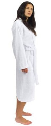 TowelSelections Turkish Cotton Robe with Kimono Collar