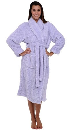 Alexander Del Rossa Women s Microfiber Fleece Bathrobe 2e0f3e658a00