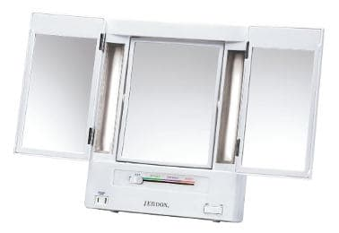 Jerdon Tri-fold Lighted Makeup Mirror