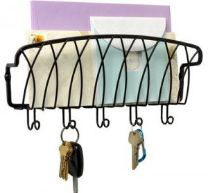 Mounted Mail Organizer and Key Holder