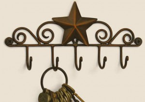 Star Key Ring Holder (Aged Copper)
