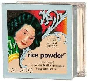 Rice powder for acne and oily skin