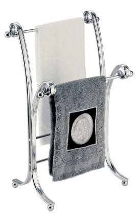 This InterDesign Chrome Towel Stand Is A Free Standing Towel Stand That Is  Designed To Sit On Your Bathroom Counter. It Measures 0u201d X 5.5u201d X 13.5  Inches And ...