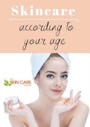 Skin care according to your age
