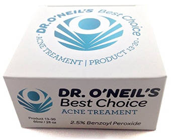 Dr. O'Neil's Best Choice Acne Treatment Cream with 2.5% Benzoyl Peroxide