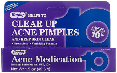 Benzoyl Peroxide 10% Generic for Oxy-10 Balance Acne Medication Gel by Rugby