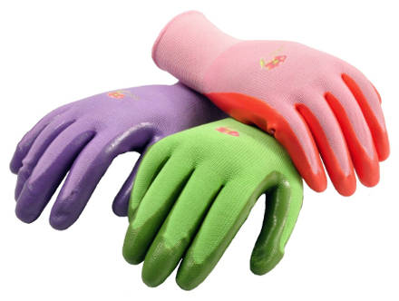 G and F 15226M Women's Garden Gloves Nitrile Coated Work Gloves