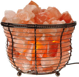 WBM Natural Air Purifying Himalayan Salt Lamp with Salt Chunks