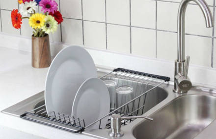 Over-The-Sink Kitchen Dish Drainer Rack by Neat-O