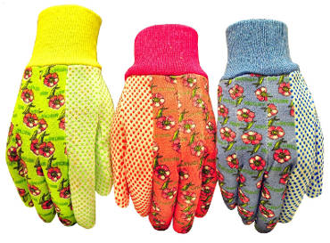 G &F 1852-3 Women's Soft Jersey Garden Gloves