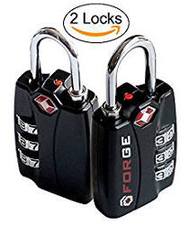 Forge TSA Locks 2 Pack with Open Alert Indicator