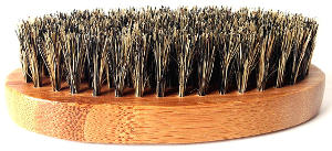 military round bamboo beard brush