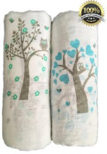 Muslin Swaddle Blankets 2-Pack