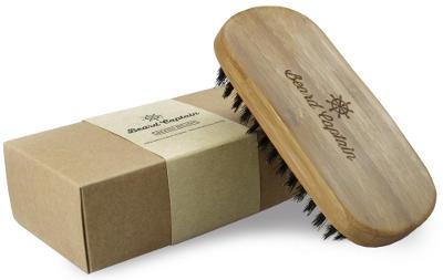 Beard Captain Boar Bristle Bamboo Base Beard Brush