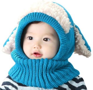 Bienvenu Baby Girls Boys Winter Hat Scarf Earflap Hood Scarves Skull Caps