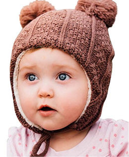 Twinklebelle Baby Toddler Kid's Fall Winter Earflap Beanie Hat