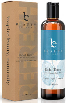 Beauty by Earth Facial Toner with Witch Hazel and Rose Petal Water