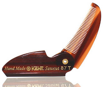 87T Folding Beard & Mustache Comb by Kent Combs