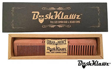 Hair and Beard Comb with Wide & Fine Teeth by BushKlawz