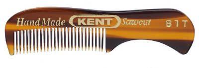 Kent The Hand Made Comb for Beard and Moustache, Sawcut 81T