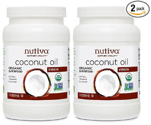 Nutiva Organic Coconut Oil, Virgin, (2 Pack)