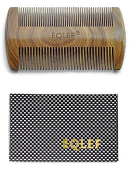 EQLEF Green Sandalwood No Static Handmade Comb