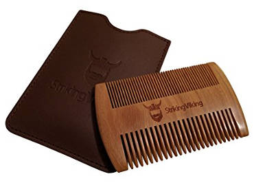Wooden Beard Comb & Case from Striking Viking