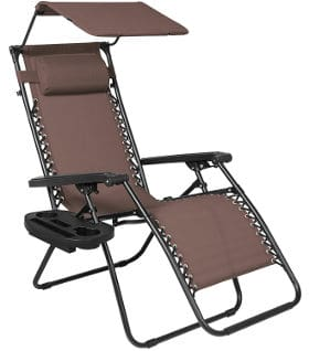 Recliner Lounge Chair with Canopy Shade