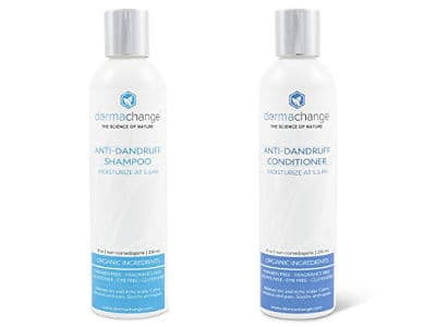DermaChange Dandruff Shampoo and Conditioner Set with Organic Ingredients