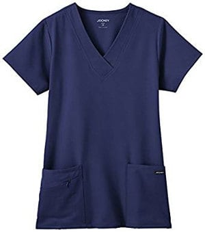 Women's Tri Blend Solid Scrub Top by Jockey