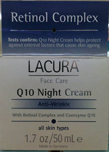 LaCura Q10 NIGHT FACE CREAM Anti-Wrinkle