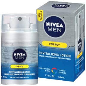 NIVEA Men Energy Revitalizing Lotion with SPF 15