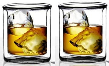 Sun´s Tea Strong Double Wall Manhattan Style Old Fashioned Glass