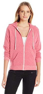 Alternative Women's Adrian Fleece Zipper Front Hoodie Sweatshirt
