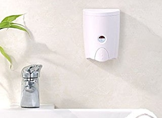 HOMEPLUZ Simply White Wall-Mount Soap Dispenser