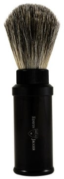 Edwin Jagger Black Aluminum Travel Pure Badger Shaving Brush