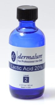 Lactic Acid Peel 20% by Dermalure