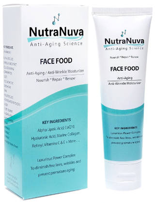 NutraNuva Face Food Anti Aging Cream & Eye Wrinkle Moisturizer