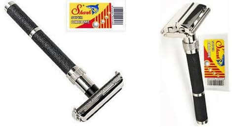 Parker 96R Long Handle Butterfly Open Double Edge Safety Razor