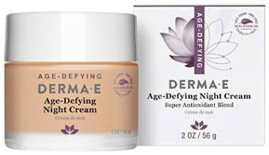 DERMA E Age-Defying Antioxidant Night Cream with Astaxanthin and Pycnogenol