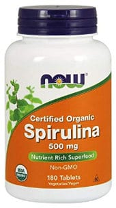 Vegan and vegetarian spirulina tablets