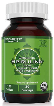 Organic Spirulina Tablets by Triquetra Health
