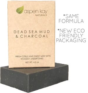 Aspen Kay Naturals Dead Sea Mud & Charcoal Soap Bar