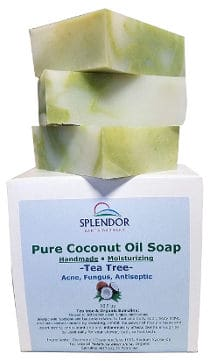 Pure Coconut Oil Soap With Tea Tree By Splendor Santa Barbara