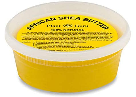 Raw Unrefined 100% Pure Natural Yellow Grade A African Shea Butter by Plant Guru