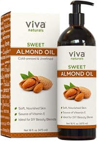 Sweet almond oil for dry itchy skin