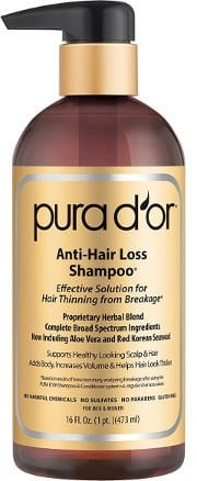 Natural anti hair loss shampoo